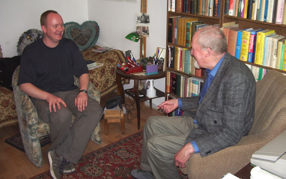 Interviewing Johnny Tarver in 2005
